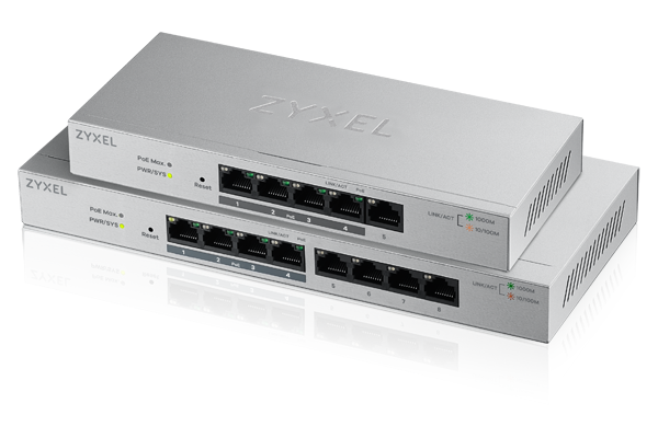 GS1200 Series, 5-Port/8-Port Web Managed PoE Gigabit Switch